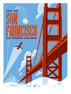 San Francisco art poster by Eric Tan