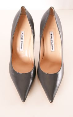 Grey Leather Manolo Blahnik