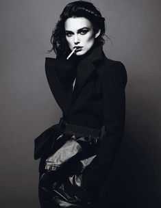 Dark Rebellious Editorials - Keira Knightley Stars in the Interview Magazine April 2012 Cover Shoot (GALLERY)
