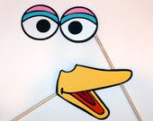 Sesame Street Inspired Photo Booth Props. $80.00, via Etsy.