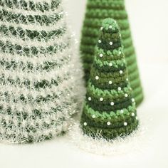 Cone Christmas Tree Crochet Patterns - Petals to Picots