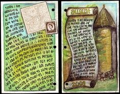 ALTERED NOTEBOOK  JOURNAL 2 altered books and journals #journal