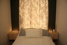 xmas trees, headboard, white lights, holiday lights, christmas lights