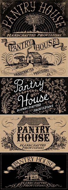 illustrated letters, graphic design, gradi mcferrin, label design ideas, house design