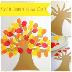 Check out this great easy craft & homeschool lesson in one! Kids Fall Thumbprint Leaves Craft is perfect for your fall leasson plans!