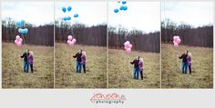 gender reveal- except I couldn't let balloons go
