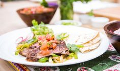 Home & Family - Recipes - Fajitas with Marinated Grilled Skirt Steak | Hallmark Channel