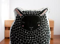 Handmade Black Sheep Pillow, Sheep Toy, Stuffed Animal, Baby Toy, Baby Lamb Pillow via Etsy