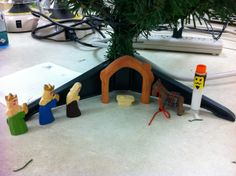 Nativity Set at CCTSI in the Leprino Building #CUHSLibrary
