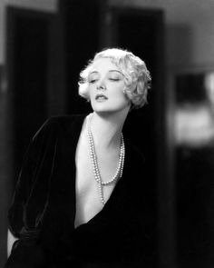 Mary Nolan 1920's flapper bob hairstyle