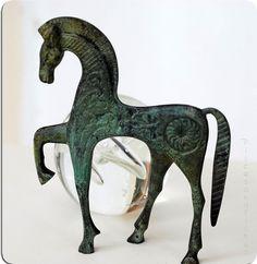 Greek Bronze Horse in Gallop @piscesandfishes @Sun San @GreekMythos GreekMythos