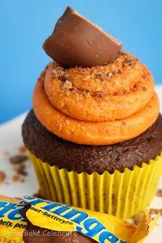 Butterfinger cupcakes from Make Bake Celebrate