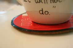 coasters made from vinyl records!