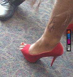 Ladies Please Make Sure Those Shoes Fit Before You Buy Them
