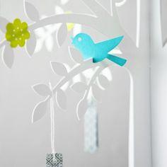Baby Shower Wishing Bird
