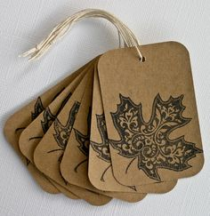 Autumn Leaf Gift Tags $2.99