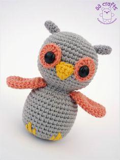 Amigurumi Owl - Free Russian Pattern http://88crafts.blogspot.ru/2013/08/baby-owl.html