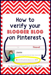 How to verify your Blogger blog on Pinterest. (The easy way...)