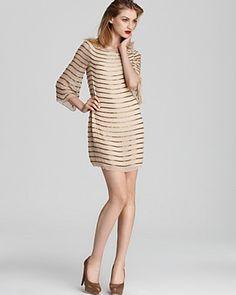Alice + Olivia Dress - Laia Bell Sleeve Beaded | Bloomingdale's