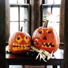 Toothy pumpkin buddies by finalist Andrea H. of Duluth, MN | thisoldhouse.com