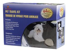 Everything you need for worry-free travel with your pet is here in this pet travel kit, available at Tuesday Morning! #pet #travel #TuesdayMorning