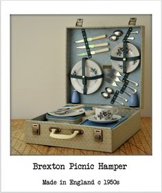 Vintage Brexton Picnic Hamper