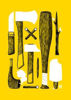sprays, exhibitions, illustrations, exhibit 2011, weapon, art, inspir, yvo hählen, design