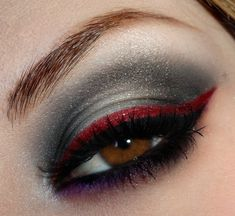Red & Purple smokey eye