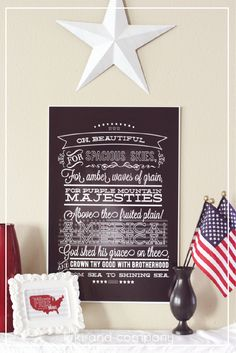 Fourth of July #printable at Kiki and Company. Comes in big sizes!