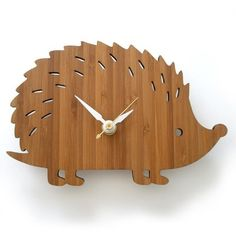 Hedgehog clock for the kid's room.