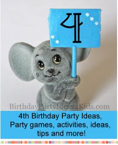4th Birthday Party Ideas - Party Games, activities, advice and party planning help for the fourth birthday.