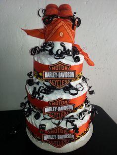 harley davidson diaper cake baby shower ideas pinterest