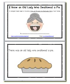 The old Lady Who Swallowed a Pie Activities