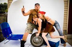 Redneck picture station redneck party theme, trash parti, redneck photo booth, parti idea, redneck parti