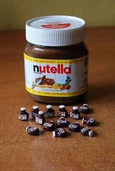 A plethora of pin-sized Nutellas. / 29 Adorably Tiny Versions Of Normal-Sized Things