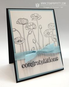 Stampin up pleasant poppies