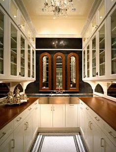 A new twist on an old classic....Butlers pantries! - The Enchanted Home  love the floor