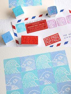 Lovely Bird Stamps by Gennine