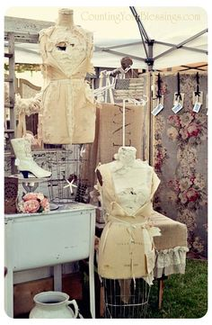 Booth Display dress form, booth display, antiqu, dressform
