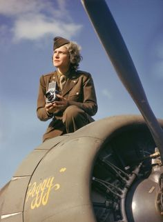 Bourke-White, one of LIFE magazine's original four staff photographers, was America's first accredited woman photographer during #WWII