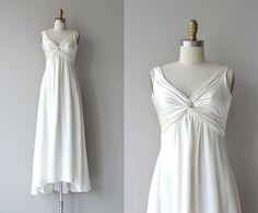 Carya wedding gown vintage silk wedding dress by DearGolden