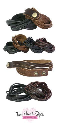 Genuine leather wrap bracelets by True Heart Style