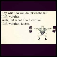 Hey what do you do for exercise? I lift weights. Yeah, but what about cardio? I lift weights faster. #calstrength #weightlifting #motivation