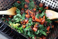 Grilled Sweet Potato & Kale Salad