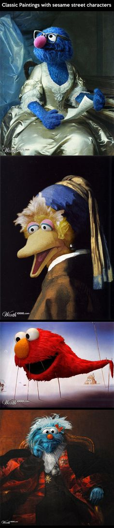 Classic paintings with muppets