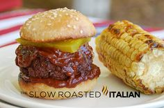 Lil Texas Barbecue Sliders from theslowroasteditalian.com #barbecue