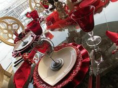 Heart tablescape