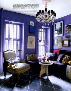 A Divine Dining Room. A lilac dining nook. Interior Designer: David Kaihoi.