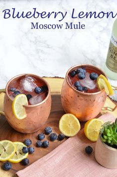 Blueberry Lemon Moscow Mule || @polishedclosets