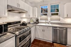 White kitchen and love the counter top